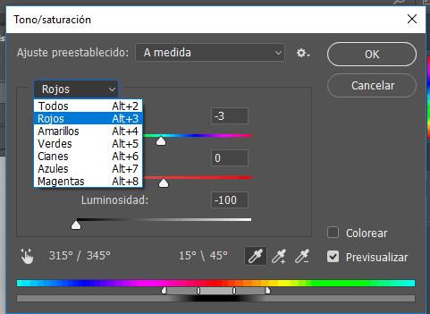Photoshop proceso blanco negro