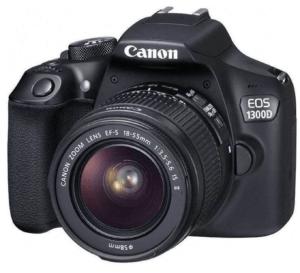 fotografía frontal de cámara Canon 1300D