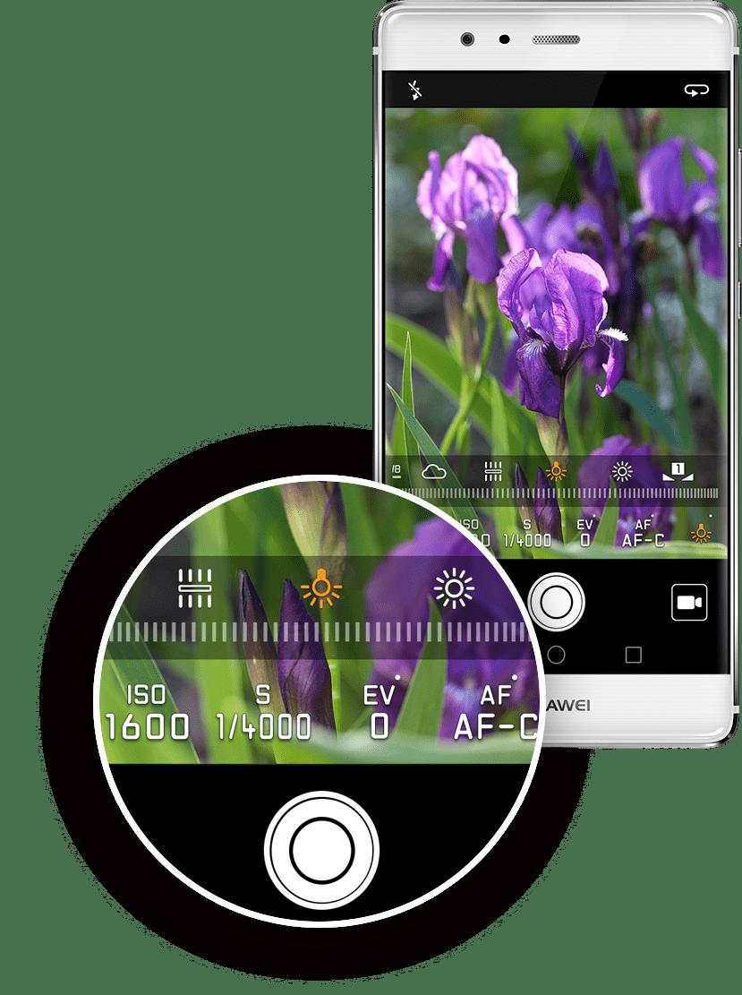 Opciones cámara Huawei P9