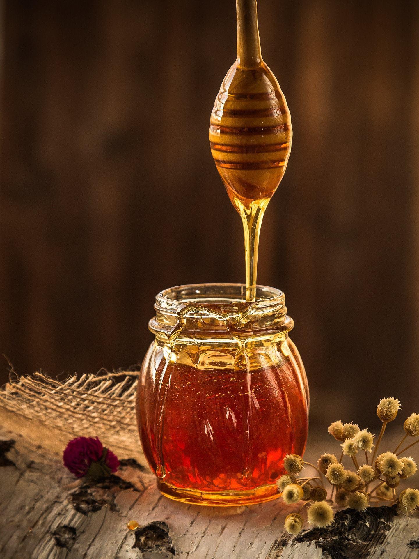 Fotografía culinaria de la miel