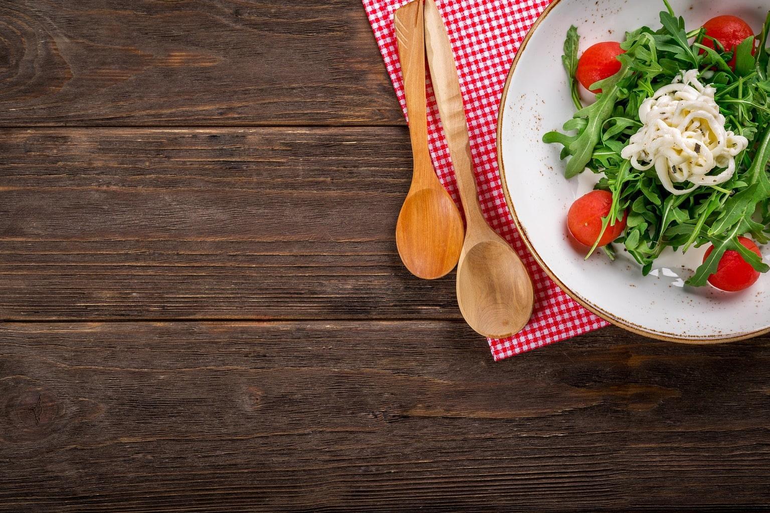 fotografía culinaria de ensalada