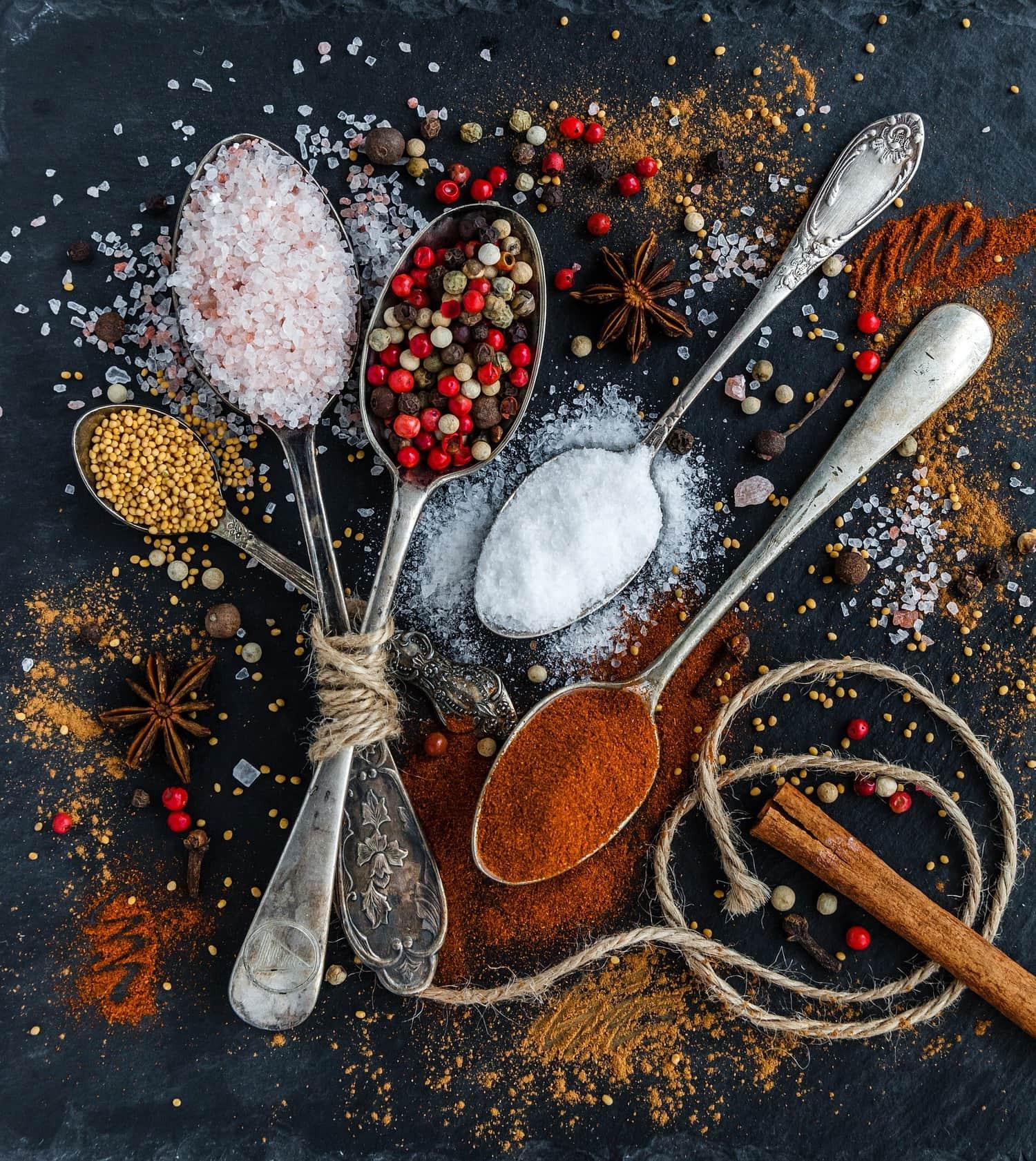 Fotografía culinaria de especias