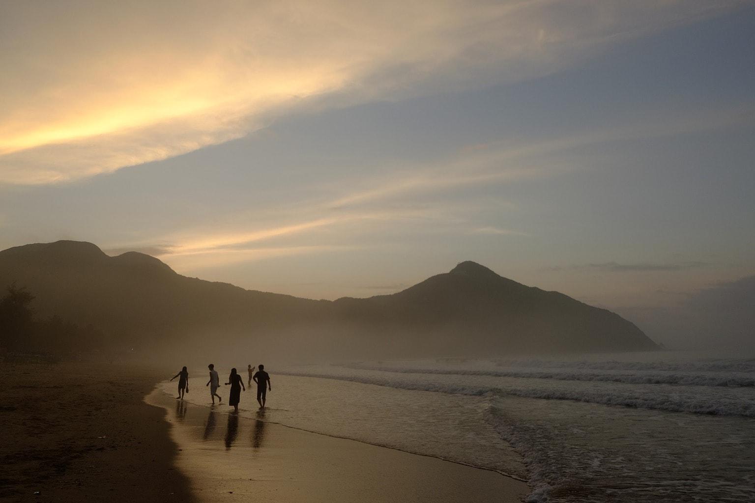 Fotografía atardecer en una playa