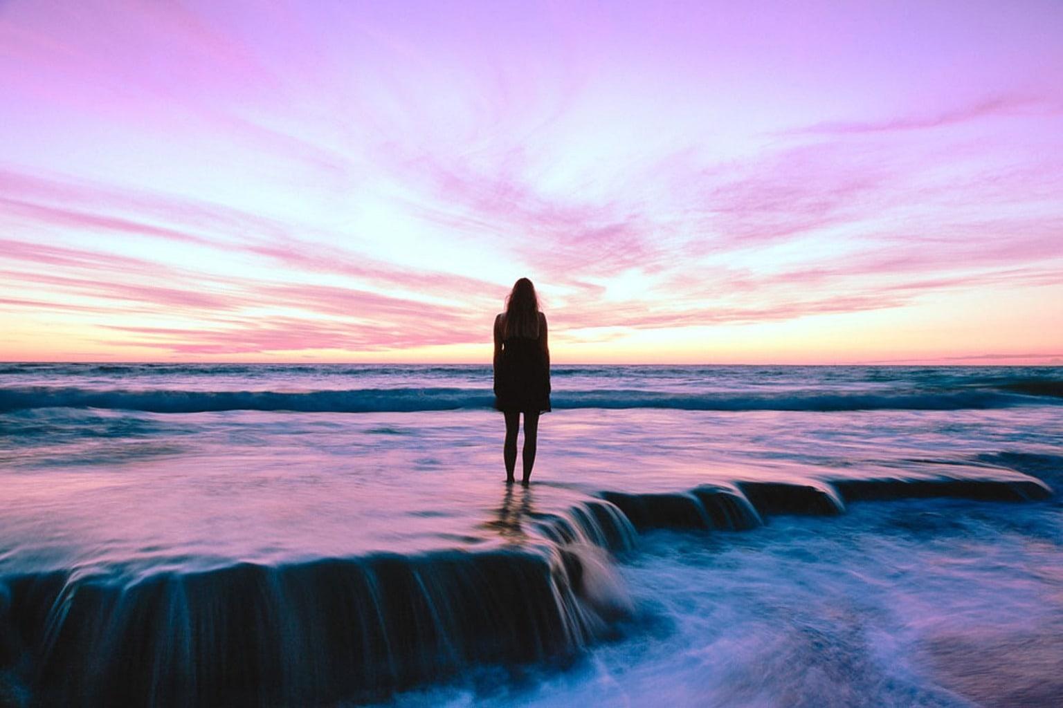 fotografía larga exposición playa