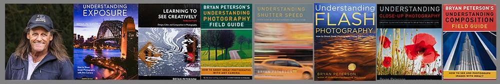 Varios libros de Bryan Peterson