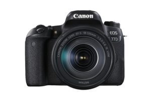 Canon 77D vista frontal