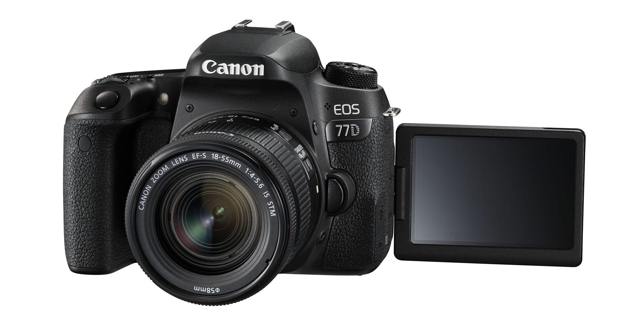 Cámara réflex Canon 77D con pantalla