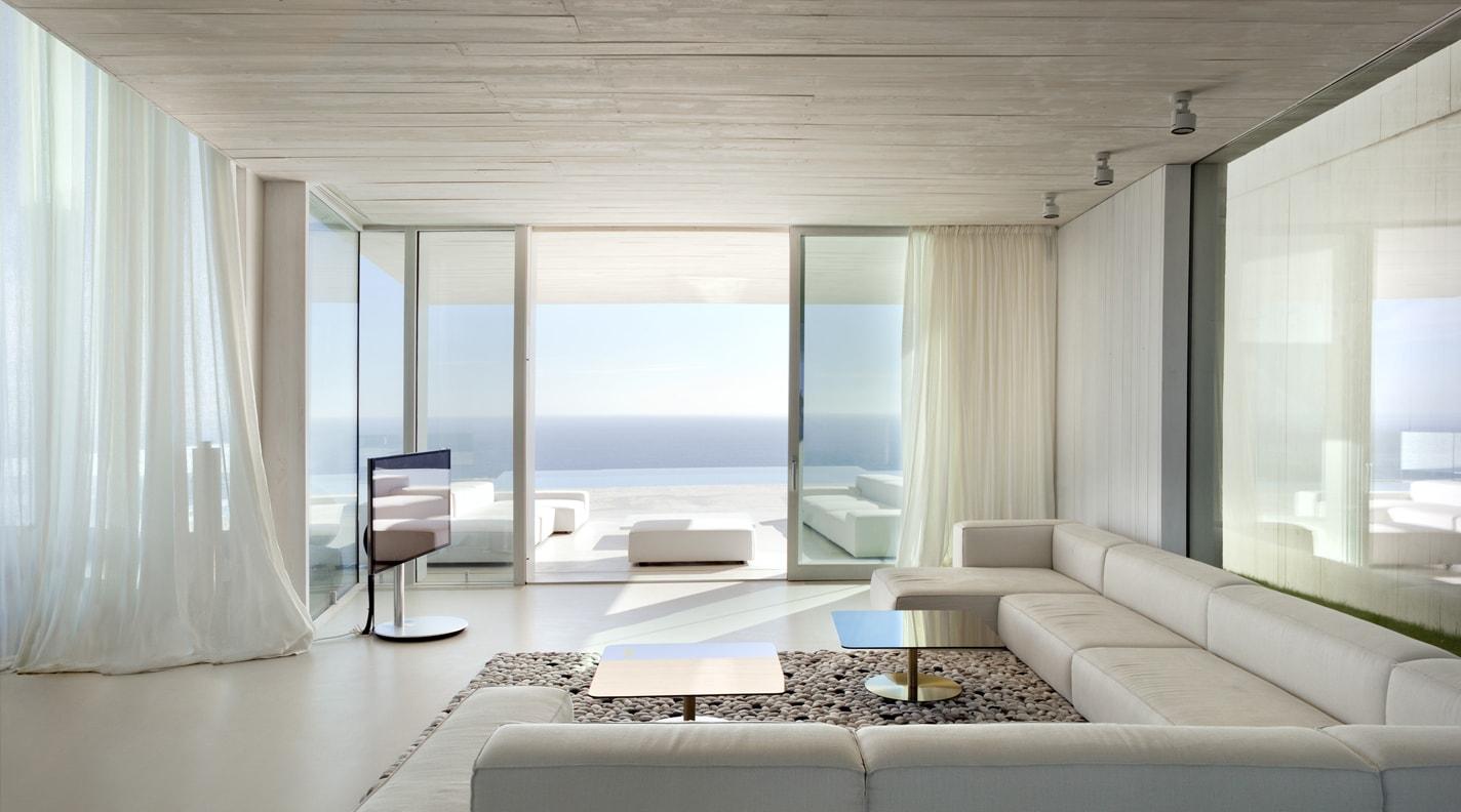 fotografía arquitectura habitación con filtro polarizador
