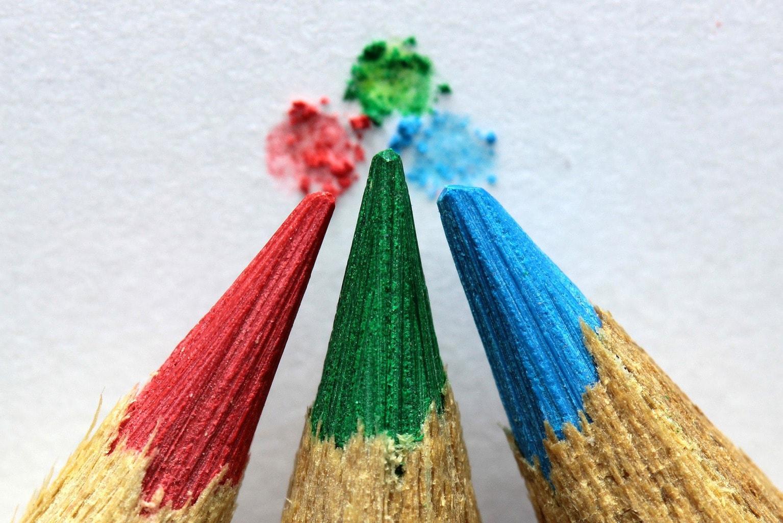 Fotografía móvil lápices multicolores