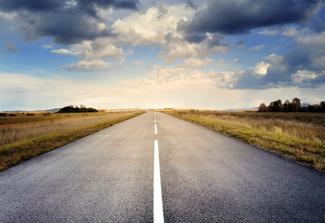 Fotografía móvil carretera
