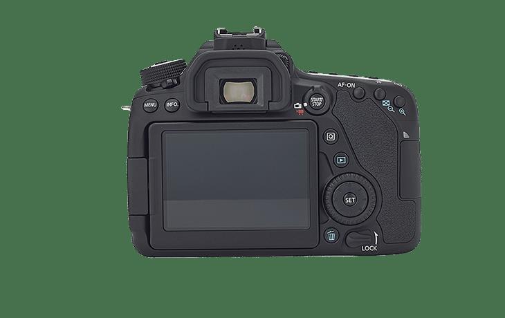 fotografía trasera Cámara Réflex Canon 80D