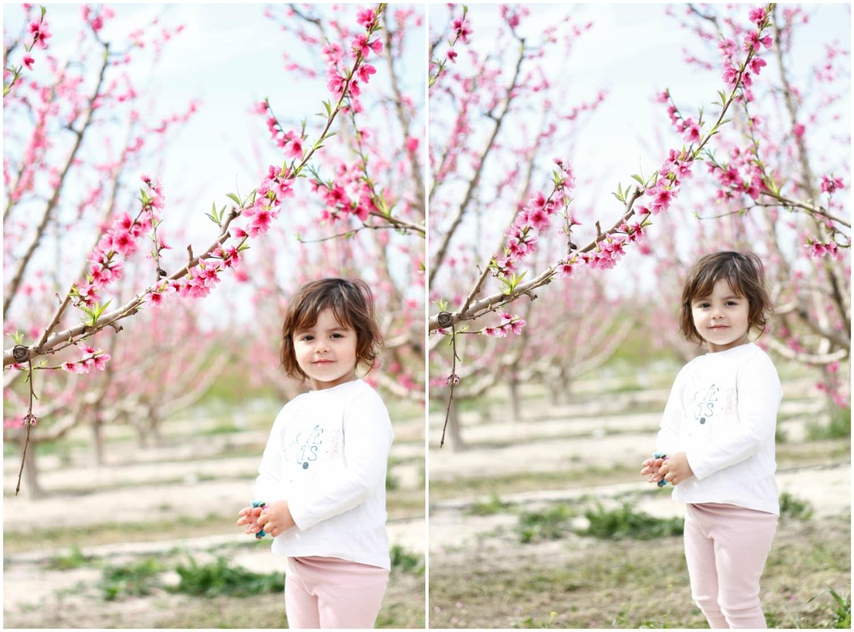 collage de una niña en un parque