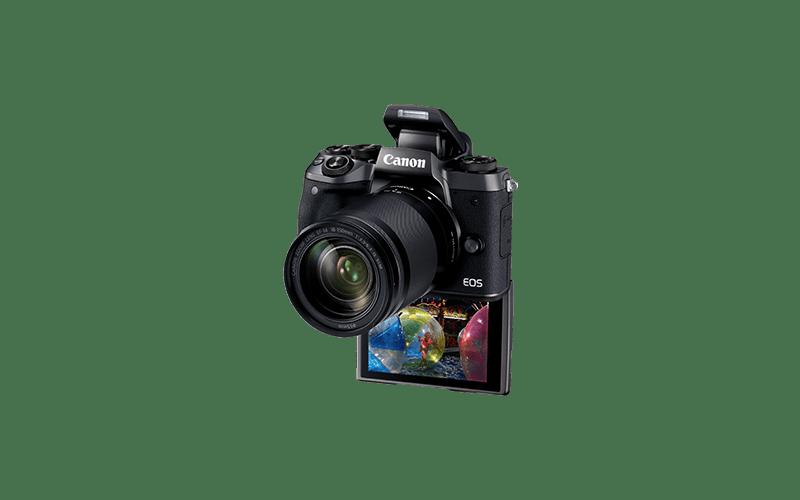Canon EOS M5 y pantalla abatida