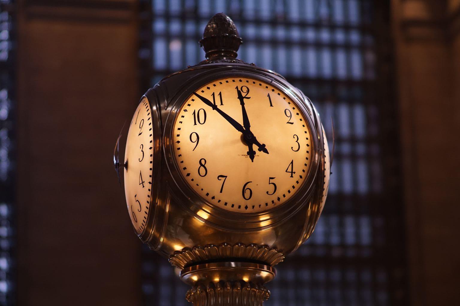 fotografía fin de año reloj