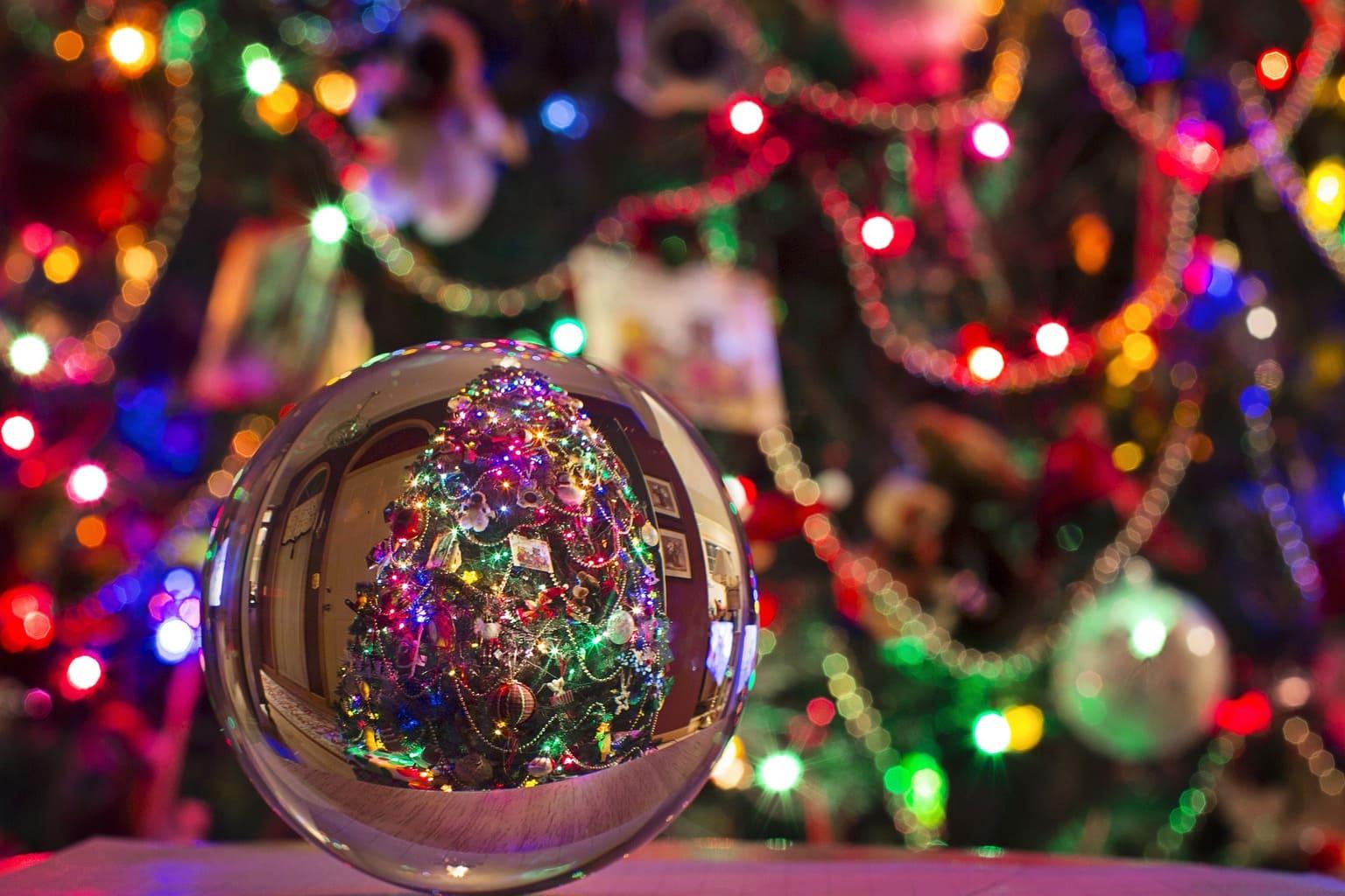 fotografía adorno navideño