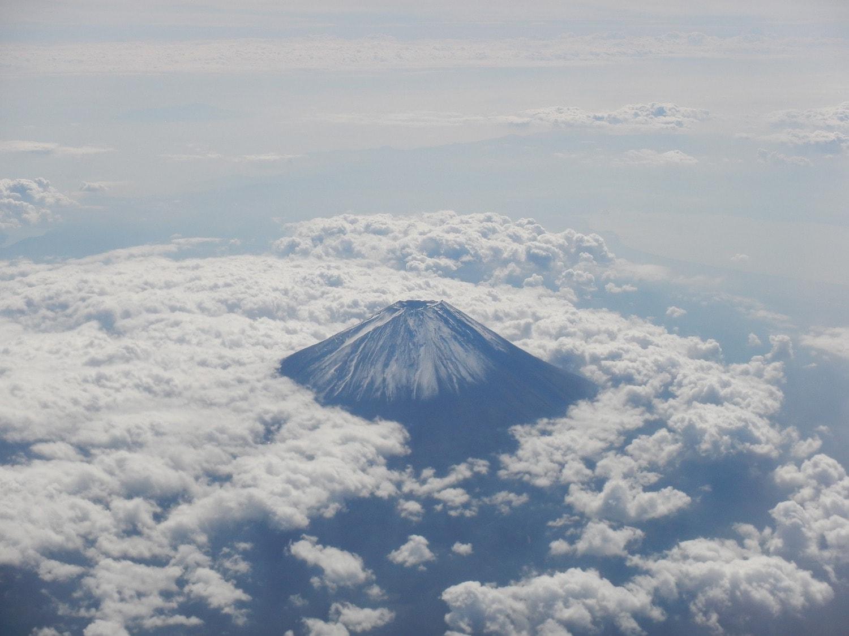 fotografía aérea monte Fuji
