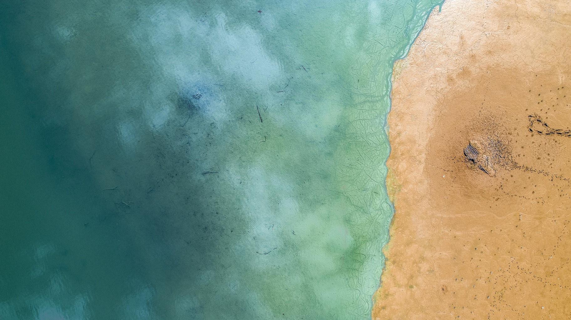 fotgrafía aérea del mar