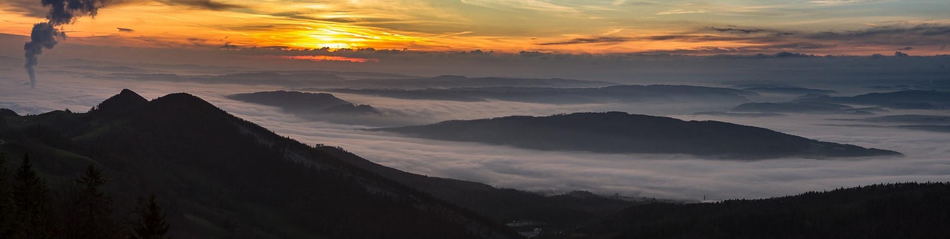 fotografía montañas amanecer