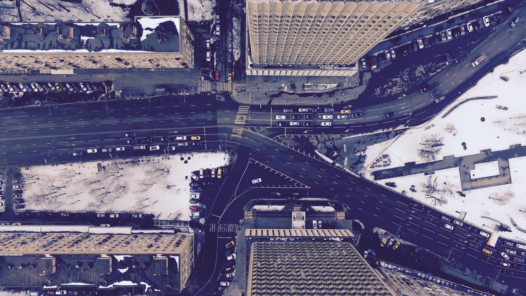 fotografía aérea ciudad