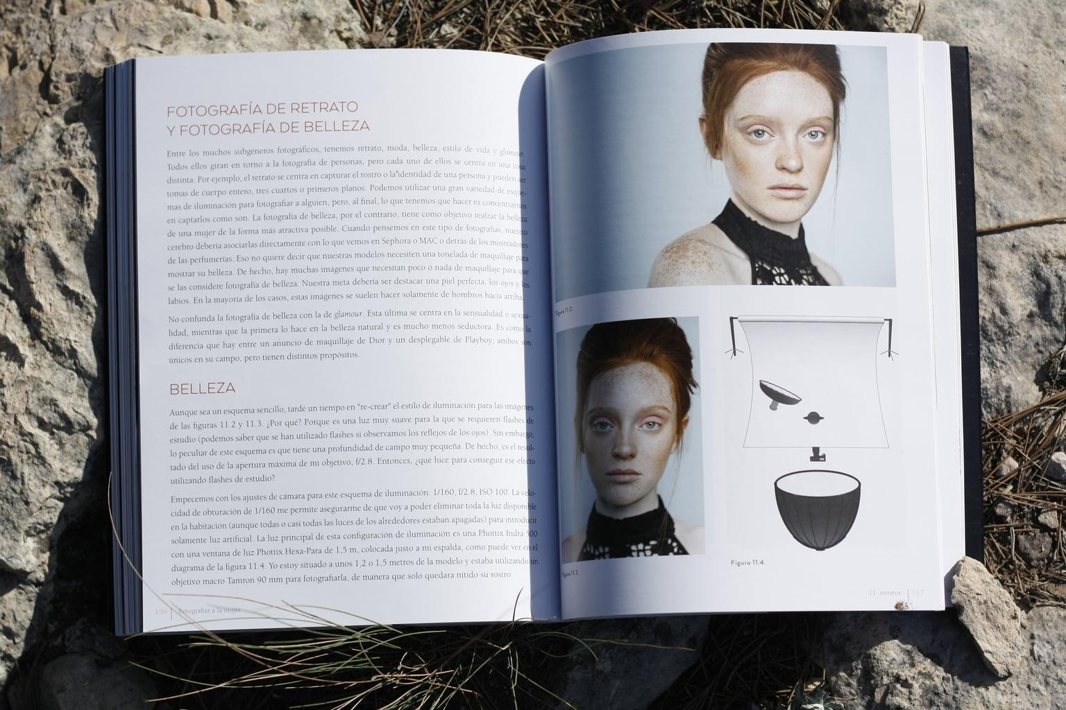 Retrato libro fotografíar a la mujer
