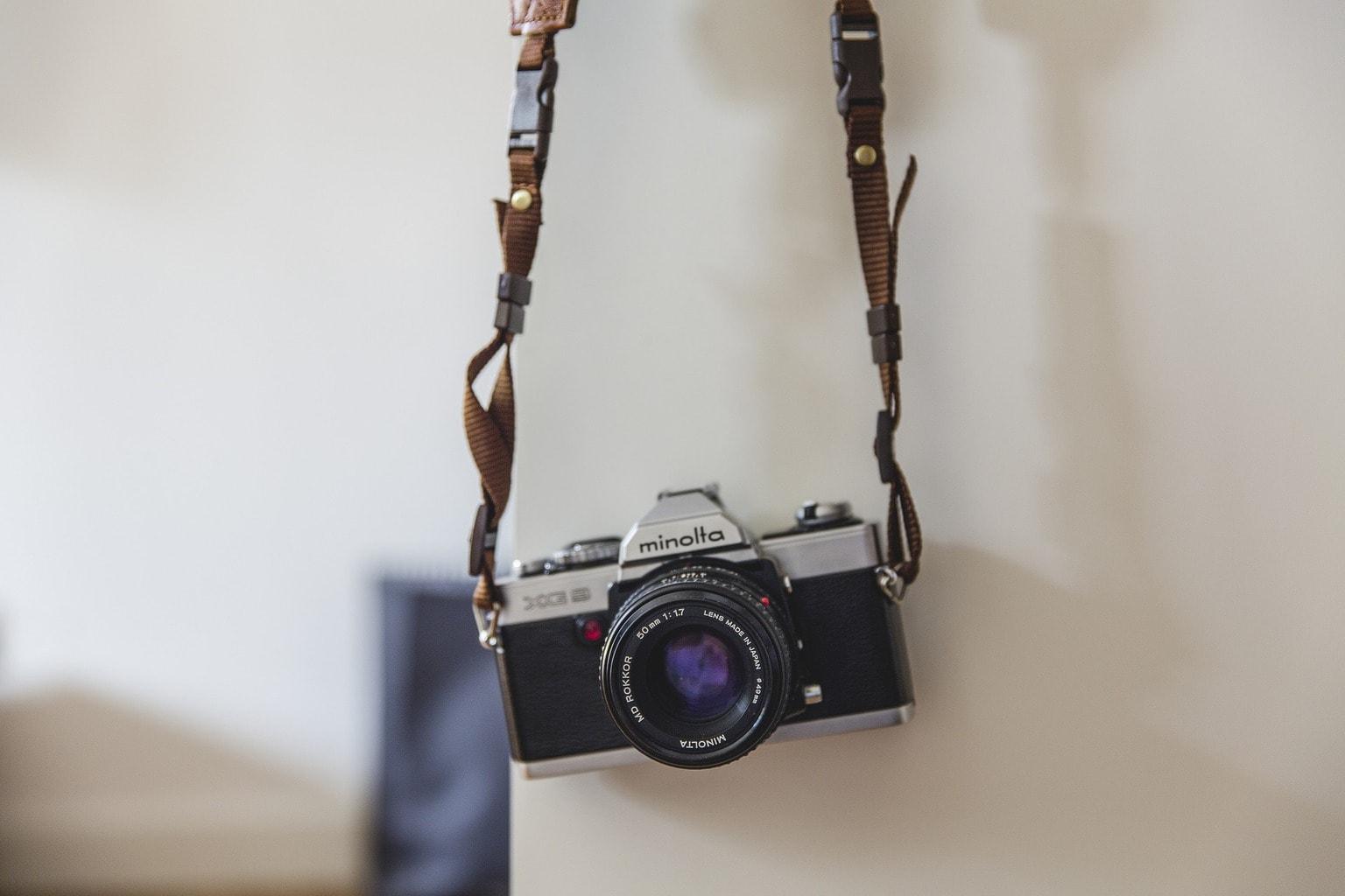 cámara analógica Minolta