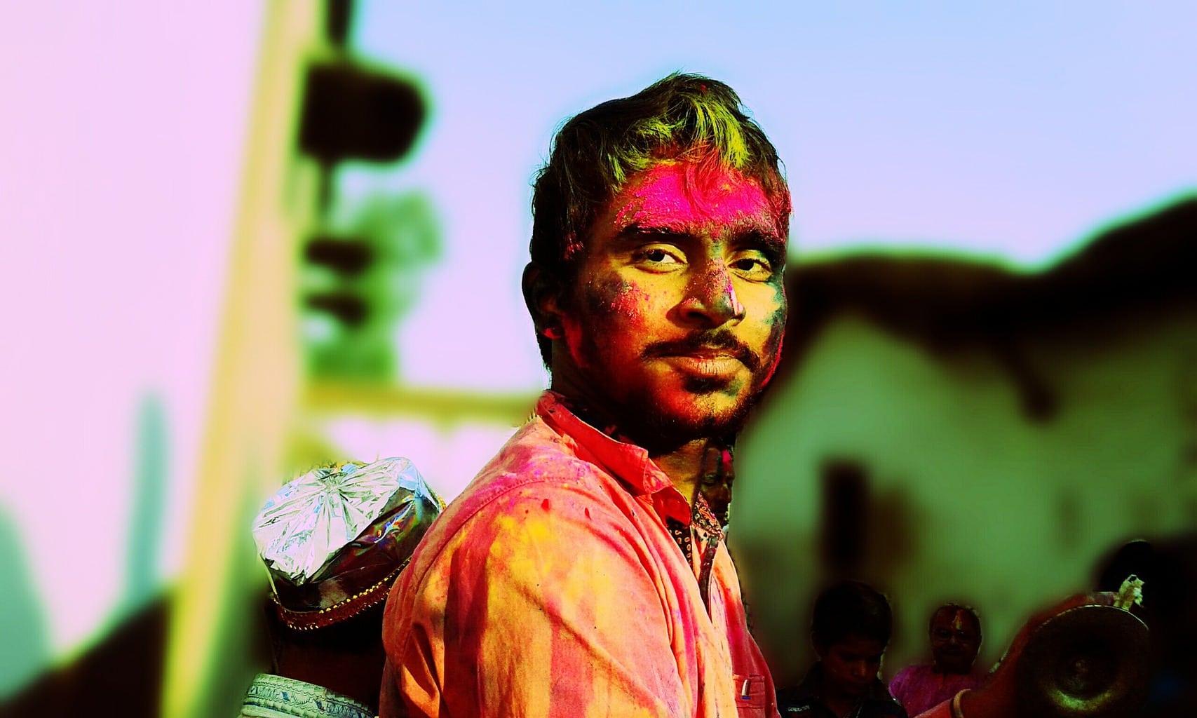 Fotografía callejera festival Holi