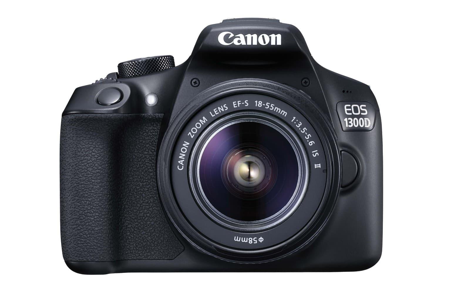 fotografía frontal cámara réflex Canon 1300D