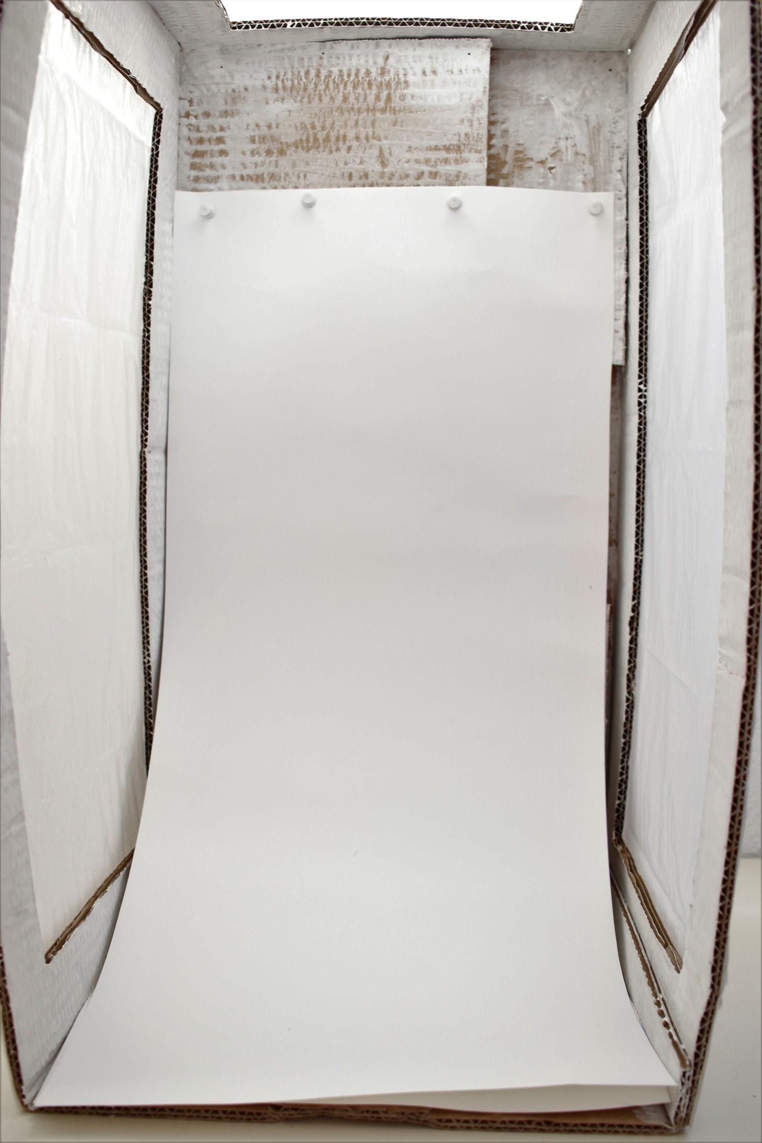 Fotografía frontal de caja de luz