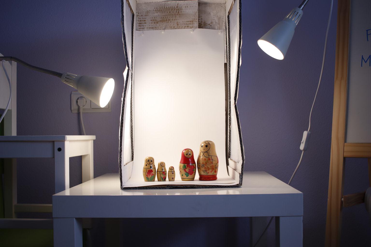 fotografía Matryoshka caja de luz