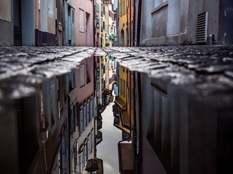 Reflejo de una calle