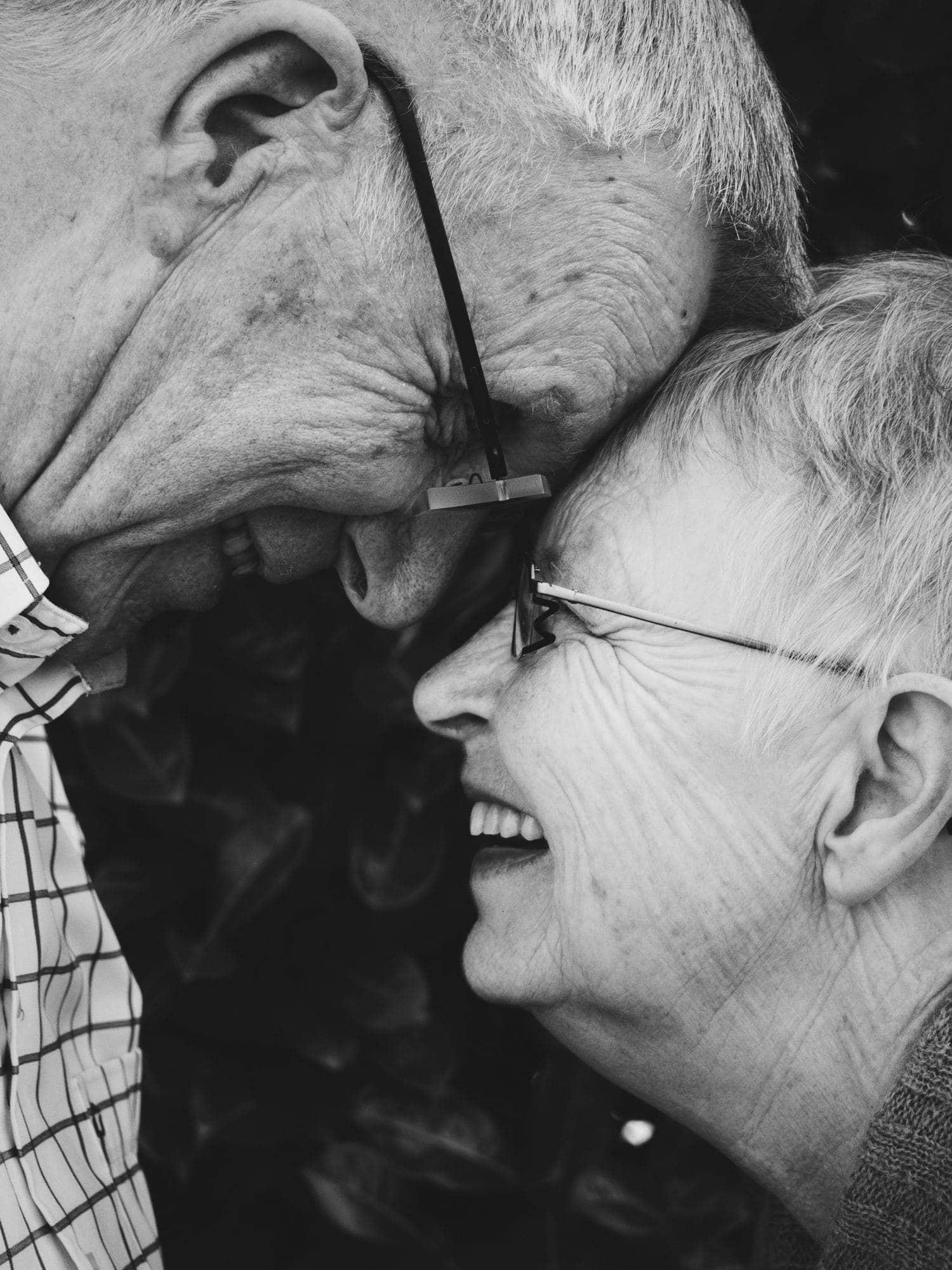 retrato de una pareja mayor