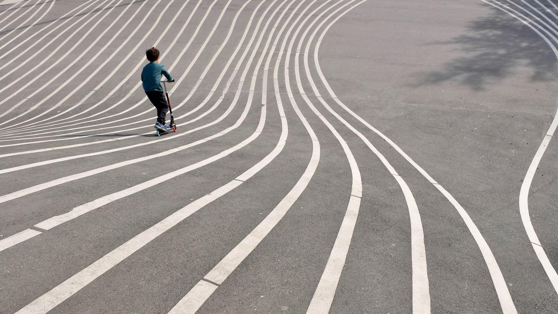 fotografía Líneas curvas y dinamismo