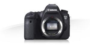 vista frontal cámara canon EOS 6D