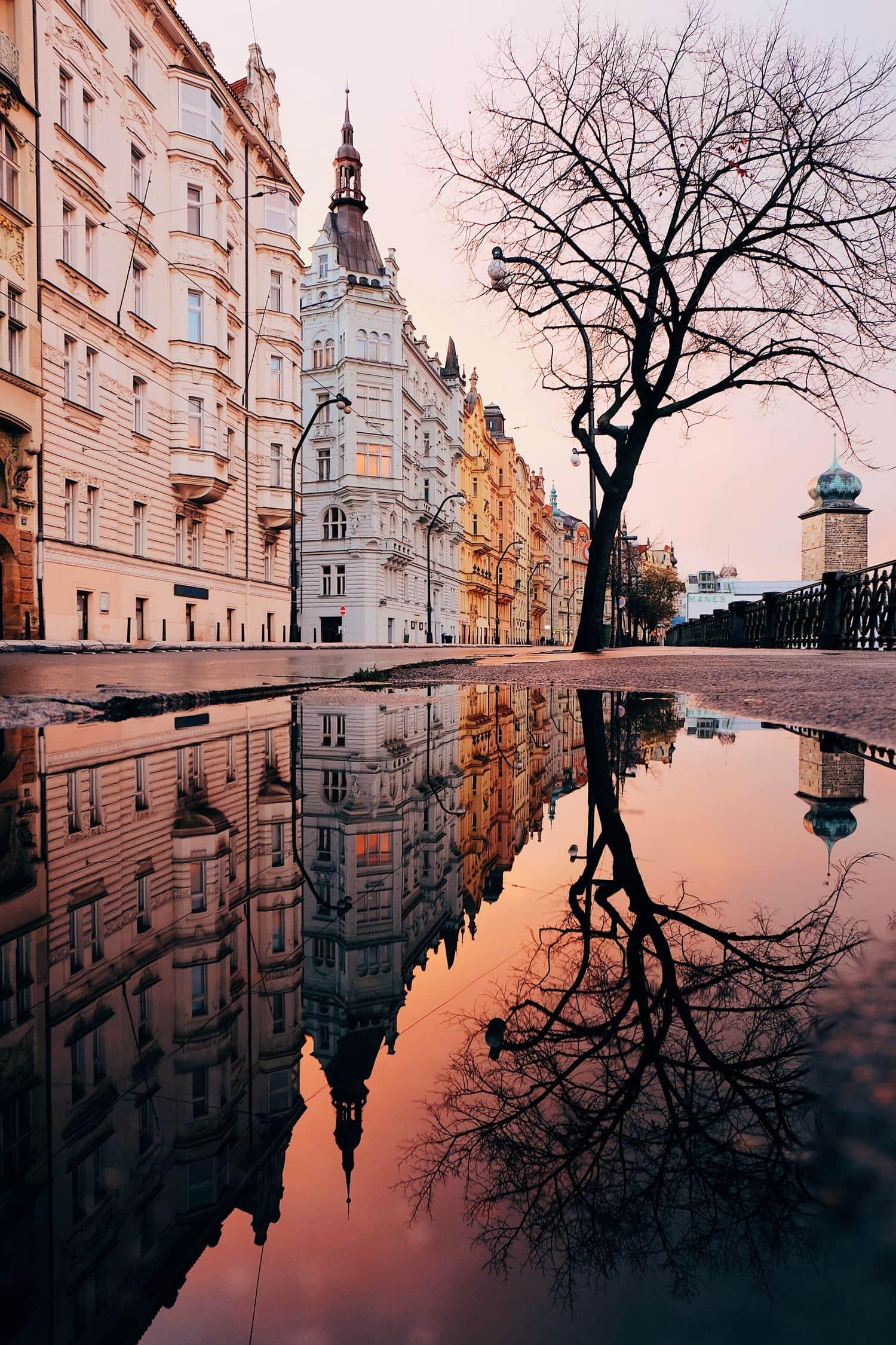fotografía edificios reflejados