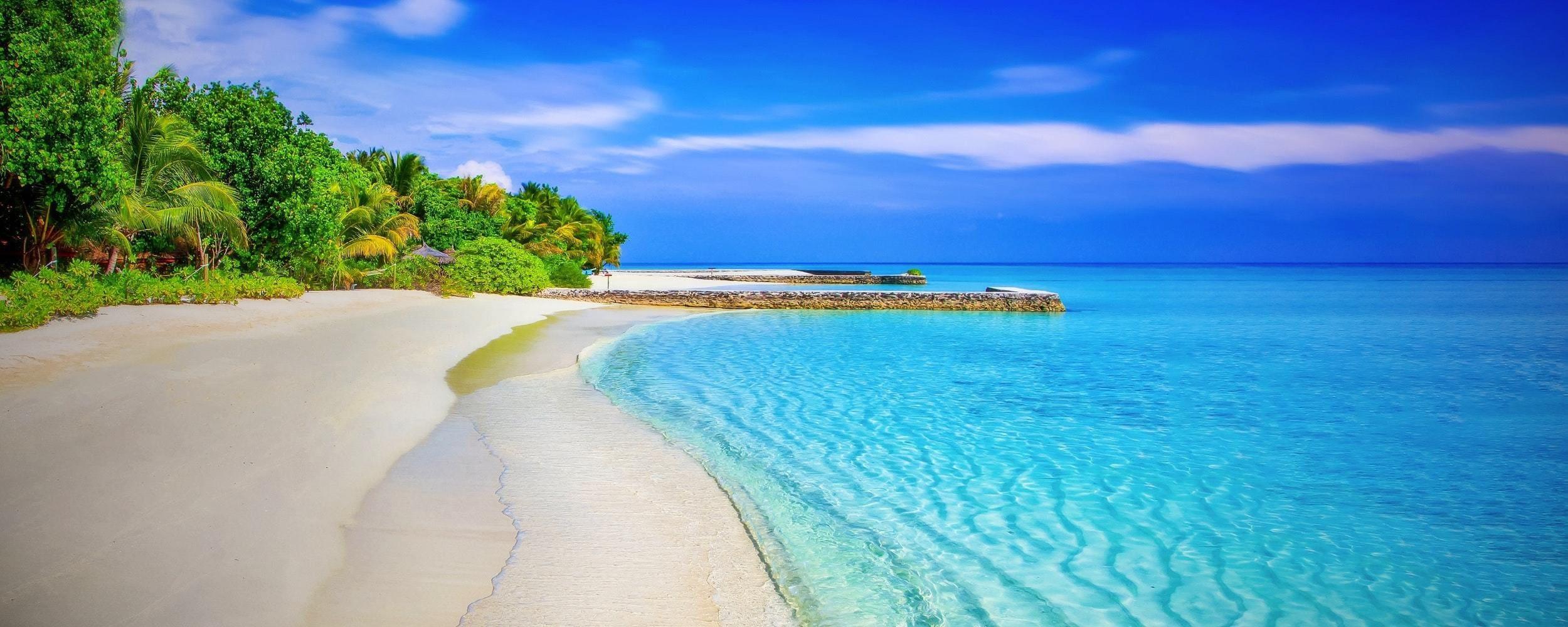 Fotografía paisaje playa exótica