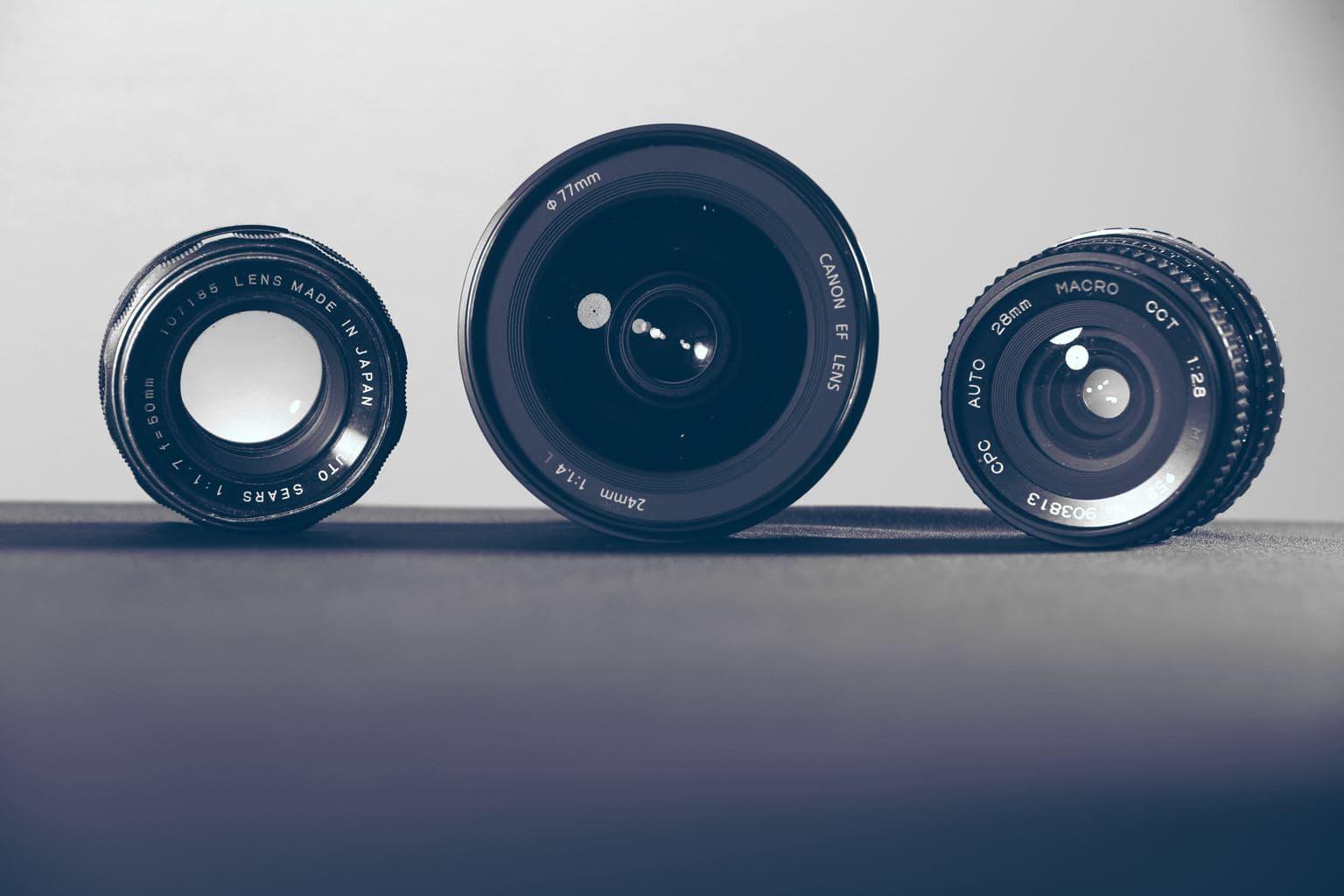 fotografía objetivos analógicos