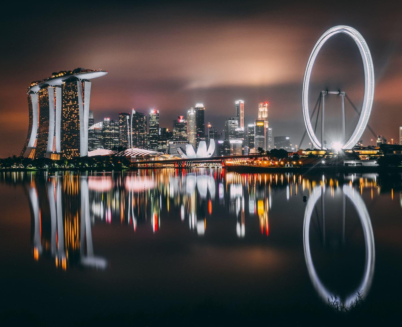 fotografía reflejos nocturnos
