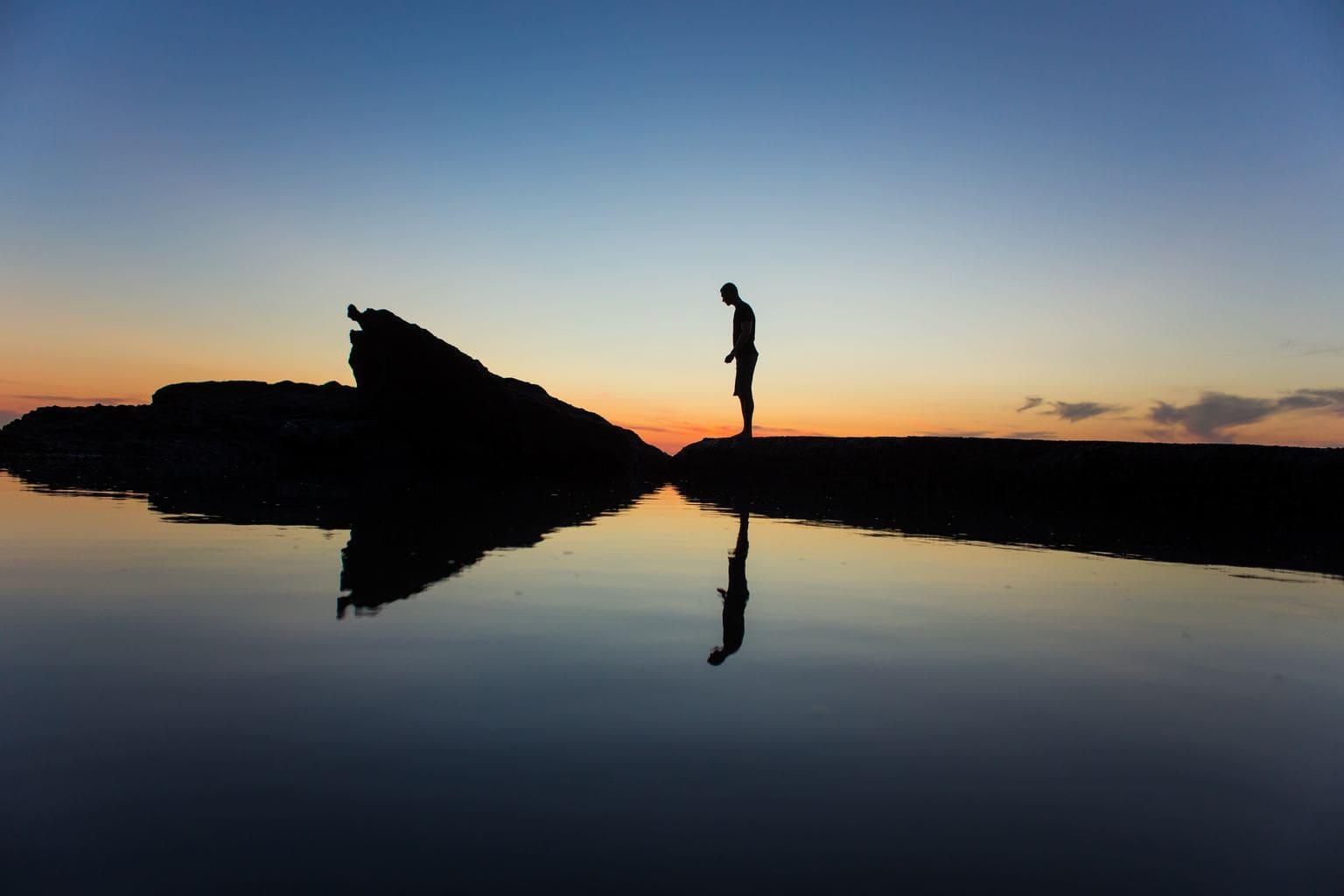 fotografía Siluetas reflejadas