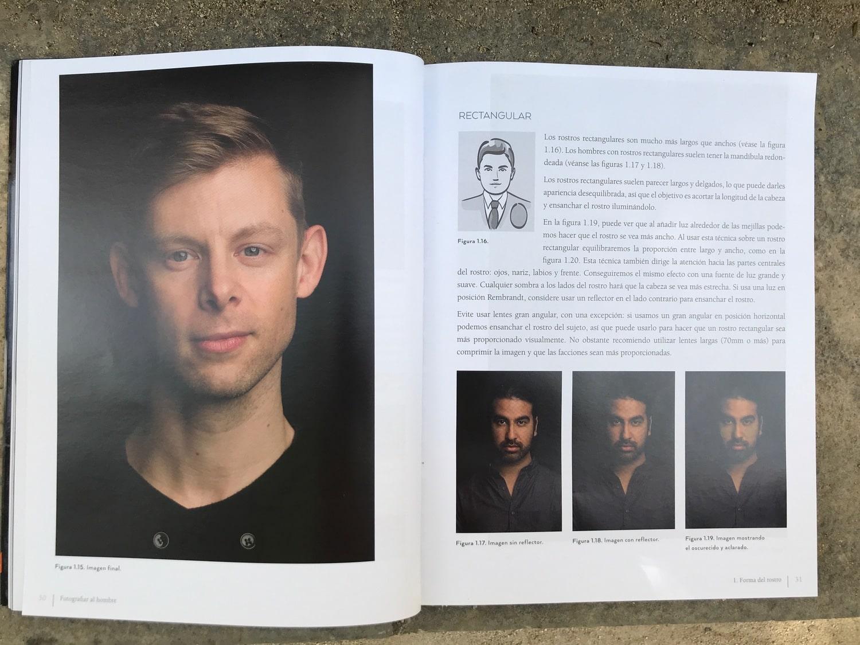 Rectangular Libro fotografiar al hombre