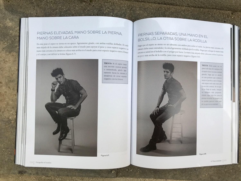 Poses Libro fotografiar al hombre