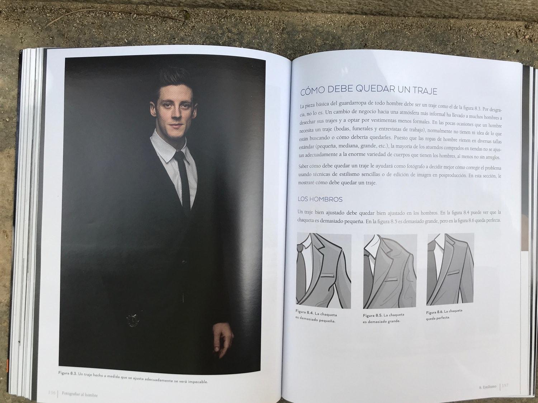 Traje Libro fotografiar al hombre