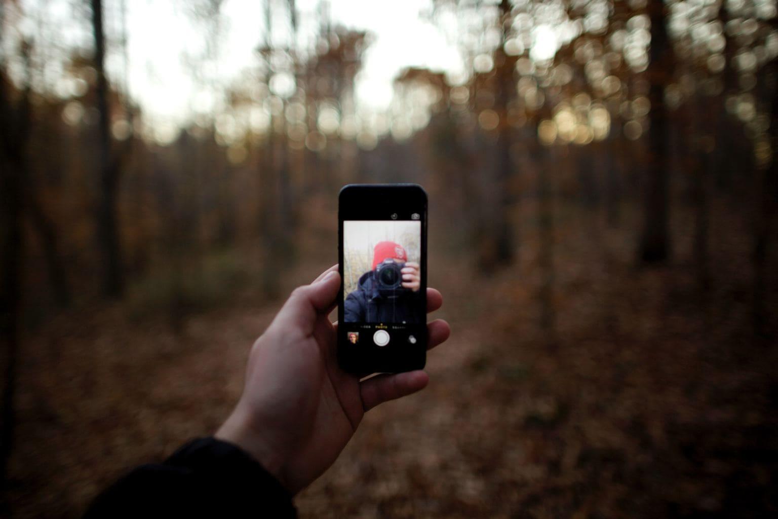 fotografía autoretrato móvil