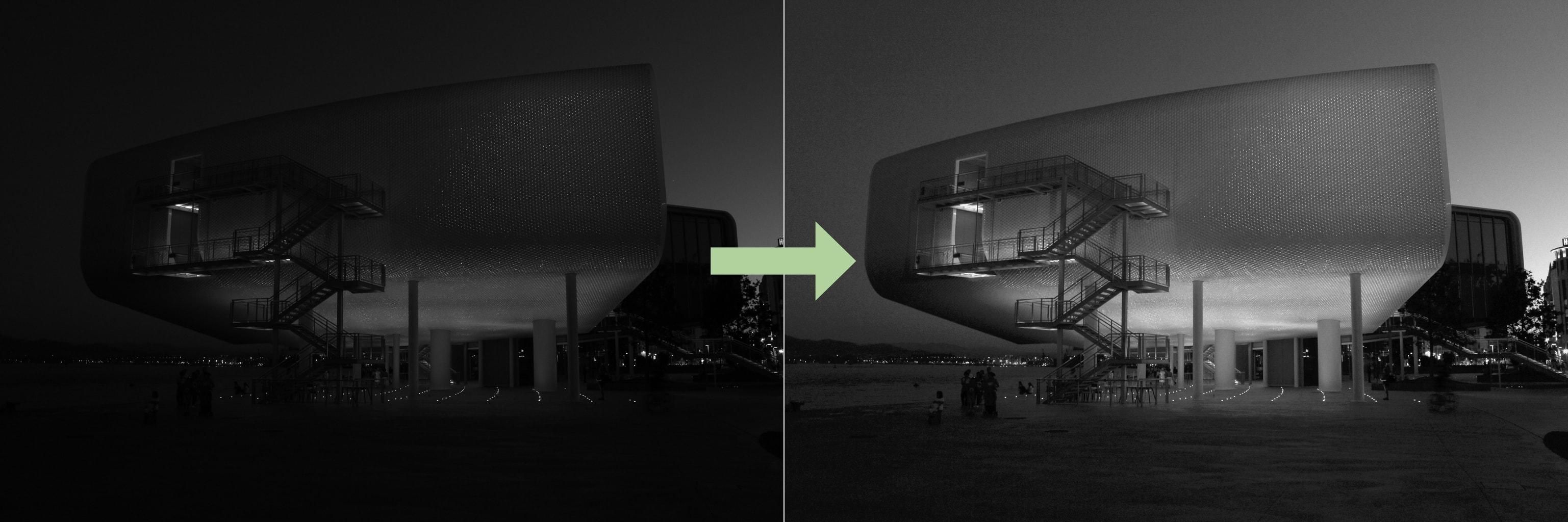 fotografías en blanco y negro capas de ajuste