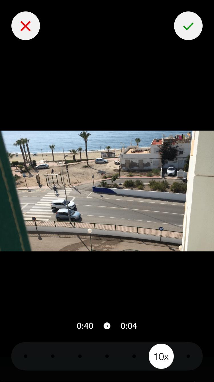 pantalla time lapse móvil