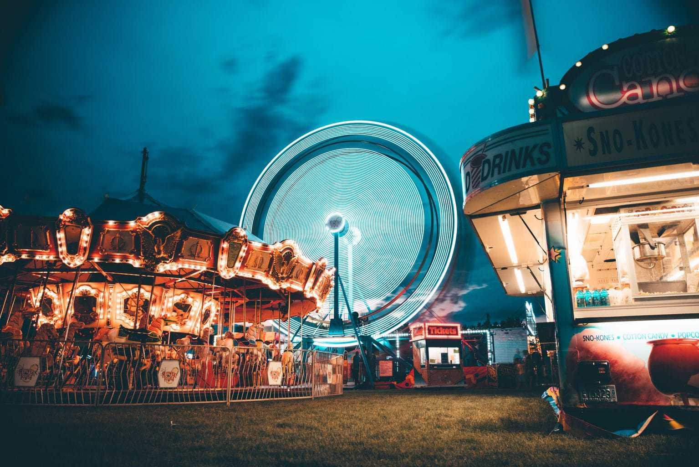 Fotografía larga exposición circo
