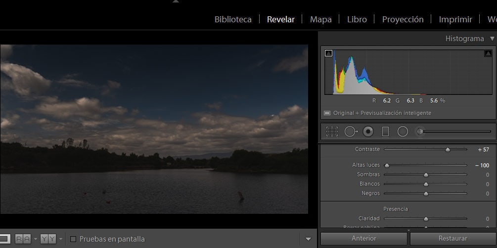 revelado foto en lightroom
