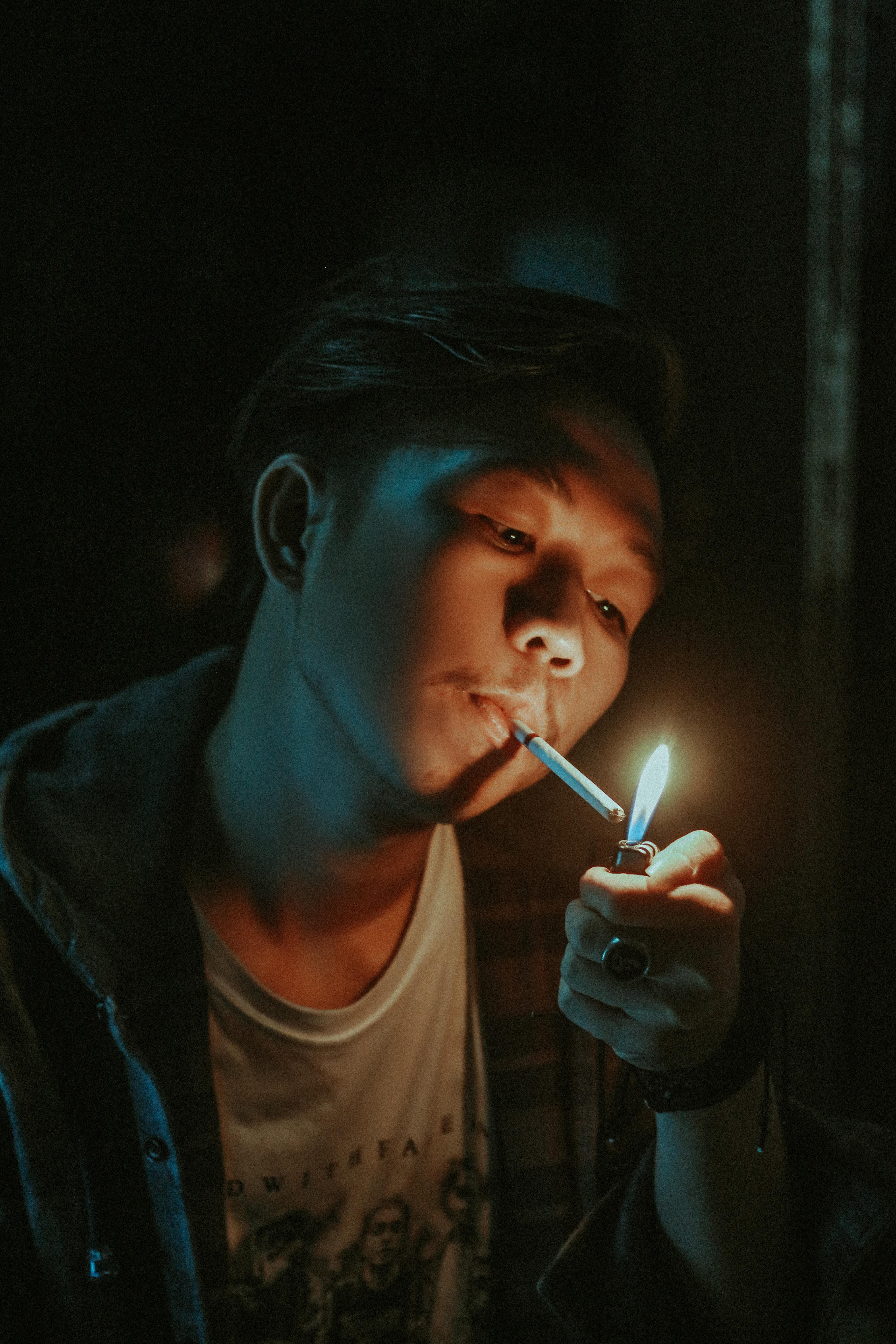 retrato de un fumador