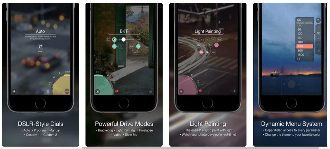 App móvil Pro Shot