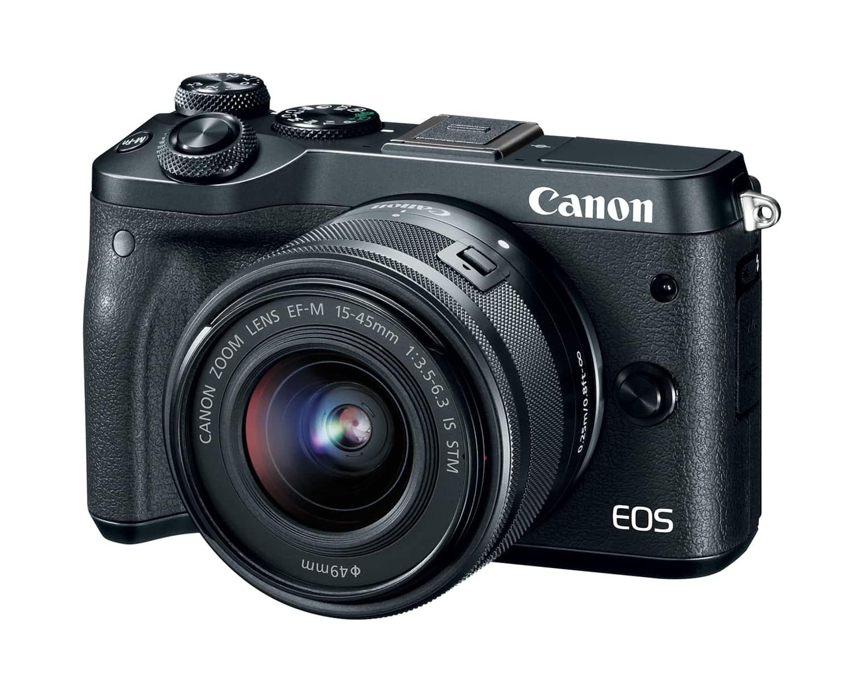 Cámara EVIL Canon EOS M6 frontal