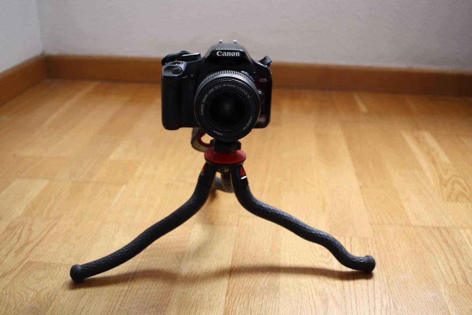 Fotopro trípode flexible con cámara réflex